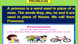 What is pronoun?