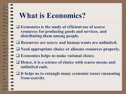 What is economic?