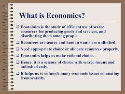 What is economic?