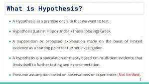 What is hypothesis?