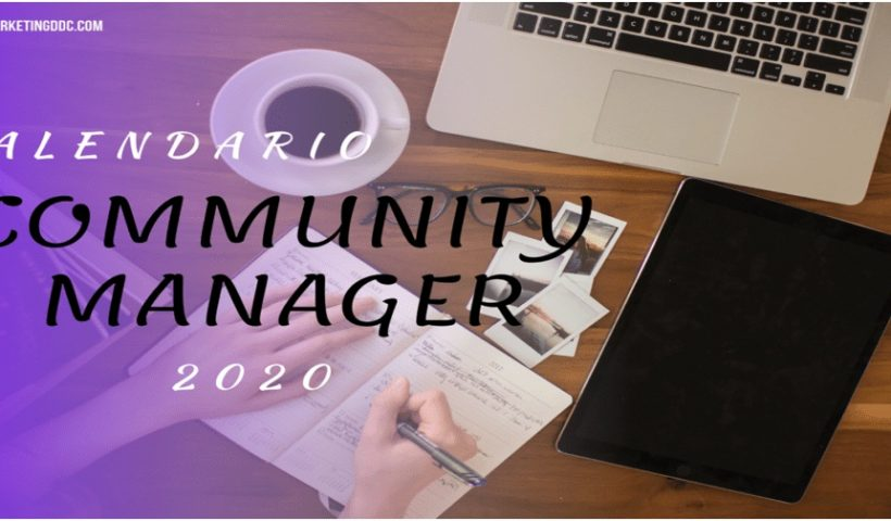2020 Community Manager Calendar By countries